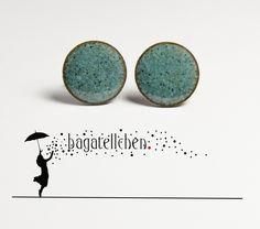 Ohrstecker - Emaille-Ohrstecker, handgemacht - ein Designerstück von bagatellchen bei DaWanda