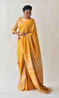 Shop Designer Dresses, Sarees, Tops and more Online Golden Saree, Minimal Look, Elegant Saree, Fashion Marketing, Beautiful Saree, Beautiful Women, Best Wear, Work Looks, Saree Styles