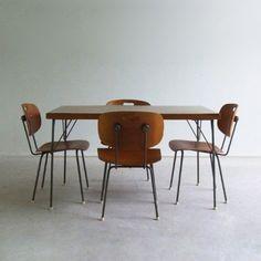 Gispen 116 Dinner Set by Wim Rietveld & André Cordemeijer for Gispen