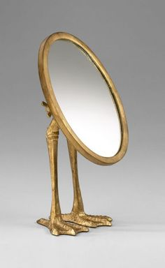 Gold Duck Leg Tabletop Mirror