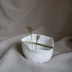 brass + porcelain foraging vessel by hearth collective.
