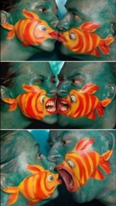 Fish Face Couples Costume