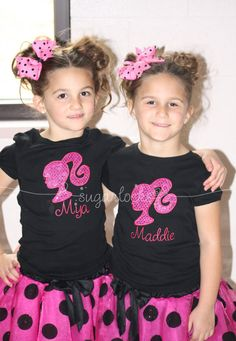 I'd never put my child's name on their shirt, but cute shirts & love the tutus.