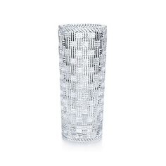 Tiffany & Co. | Item | Woven cylinder vase in crystal. | United States.   This is one of the best vases I've ever owned.  It is the perfect size, shape and style!