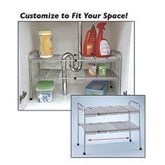 ATB 2 Tier Expandable Adjustable Under Sink Shelf Storage... https://www.amazon.com/dp/B00ED4ZUPO/ref=cm_sw_r_pi_awdb_t1_x_4q9oAbZ6G8RQE
