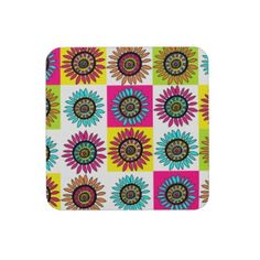 Crazy Daisy Beverage Coasters. $29.60 for a set of 6!