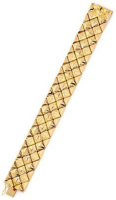 Foto 3, Designer Gold-Armband 18K Rötliches Gelbgold Luxus! Neu, K2167