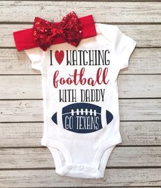 A personal favorite from my Etsy shop https://www.etsy.com/listing/460139540/i-love-watching-football-with-my-daddy