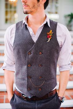 Vintage Mens Wedding Attire For Themed Weddings ❤ See more: http://www.weddingforward.com/vintage-mens-wedding-attire/ #weddings