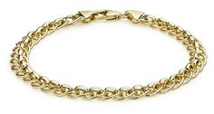 "Carissima Gold 9ct Yellow Gold Roller Ball Link Bracelet of 19cm/7.5"". UK bracelet. Women bracelet. It's an Amazon affiliate link."