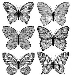 Modelo perfecto de mariposas monocromáticas, simplemente ilustración vectorial. — Ilustración de stock Butterfly Images, Butterfly Pattern, Monochrome, Illustration, Sew Simple, Pointillism, Butterflies, Groomsmen, Vectors