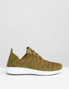 Image 2 of Nike Woven Juvenate Trainers In Khaki