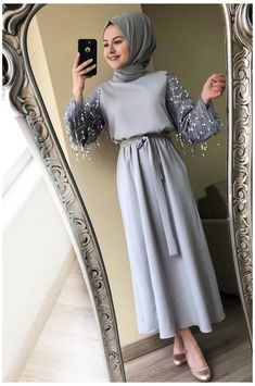 Modern Hijab Fashion, Hijab Fashion Inspiration, Abaya Fashion, Muslim Fashion, Fashion Muslimah, Aesthetic Fashion, Mens Fashion, Hijab Evening Dress, Hijab Dress Party