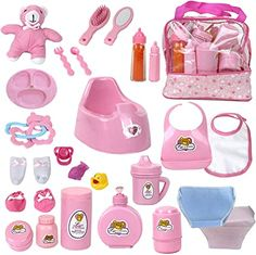 Little Girl Toys, Baby Girl Toys, Toys For Girls, Magic Bottles, Baby Doll Nursery, Baby Alive Dolls, Baby Doll Accessories, Bottle Bag, Bitty Baby