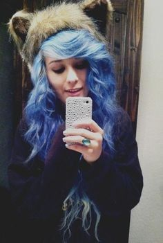 #blue#curly#adorable