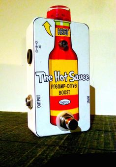 Boutique Handmade Guitar Pedal - The Hot Sauce Boost & Overdrive Pedal by…