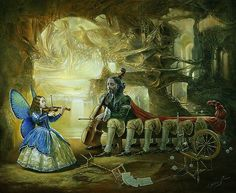Michael Cheval - Metamorfosis - óleo sobre lienzo