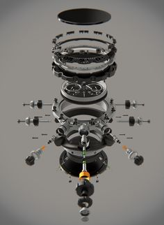Black Mamba Campaign by Victor Ruiz, via Behance Exploded View, Arte Robot, Technical Illustration, Industrial Design Sketch, Id Design, Mechanical Design, Black Mamba, Art Graphique, Motion Design