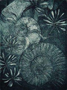 Memory of Ammonite  Etching & Aquatint by Tokoha Matsuda