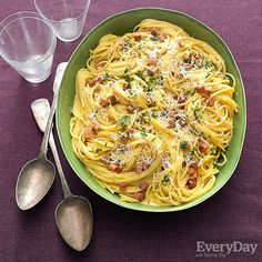 Carbonara-Style Pasta, Hold the Yolks