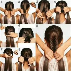 The perfect fishtail braid ponytail.
