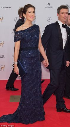 Mary's elegant New Year's outfit was actually a modified version of a glittering gown from 2014. The Australian princess first wore the Jesper Høvring outfit to the Bambi awards in German...