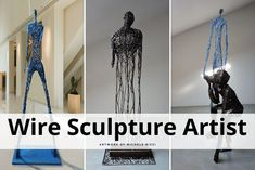 Futuristic Figures From Wire Sculpture Artist Michele Rizzi - Obsessed with Art Minoan Art, Archaeological Finds, Space Time, Happy Art, African Art, Japanese Art, Futuristic, Give It To Me, Wire