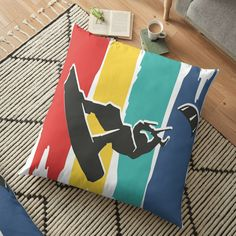 Kitesurfing, Car Stickers, Floor Pillows, Pillow Covers, Colorful, Flooring, Art Prints, Printed, Awesome