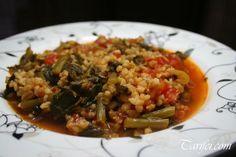 Bulgurlu Semiz Otu Yemeği Grains, Rice, Food, Bulgur, Essen, Meals, Seeds, Yemek, Laughter