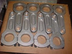 Set of Fowler Chrysler Hemi Connecting Rods for KB Keith Black TFX ...