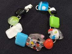Handmade, fused glass jewelry by Miss Olivia's Line. #MOL Additional items posted at https://www.facebook.com/MissOliviasLine