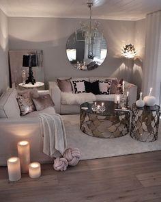 12 Cozy Living Room Decor Ideas To Copy - hariankoran Glam Living Room, Living Room Decor Cozy, Living Room Colors, Living Room Designs, Home And Living, Small Living, Modern Living, Barn Living, Decor Room