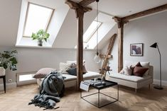 Attic Apartment in Gothenburg by Bjurfors Göteborg