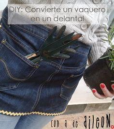 Panalon vaquero reciclado en delantal / recycled jeans into apron