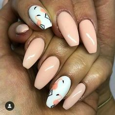 There are a variety of unique nail art designs. Flamingo nail design seems to be the best trend in the current season. Flamingos on white or pink backgrounds are great nail art designs. Of course, Flamingo Nail design is not limited to this, nail art Gel Nail Art Designs, Cute Nail Designs, Peach Nails, Pink Nails, Great Nails, Cute Nails, Tropical Nail Art, Flamingo Nails, Nailart