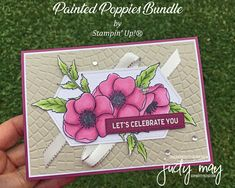 Stampin' Up! Painted Poppies Bundle - Judy May, Just Judy Designs, Melbourne