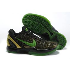 Nike KoBe VI Black Green Basketball Shoes basketball outlet 800108 Michael  Jordan Shoes, Air Jordan 864dcd44e957