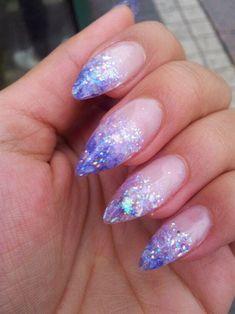 Light Purple/Lavender Fade Glitter