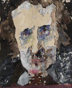 Horst Janssen - Zu Paranoia (Porträt von Edgar Allan Zu Paranoia (Porträt von Edgar Allan Poe). 1981. Tusche, Aquarell und Deckweiß.Poe)