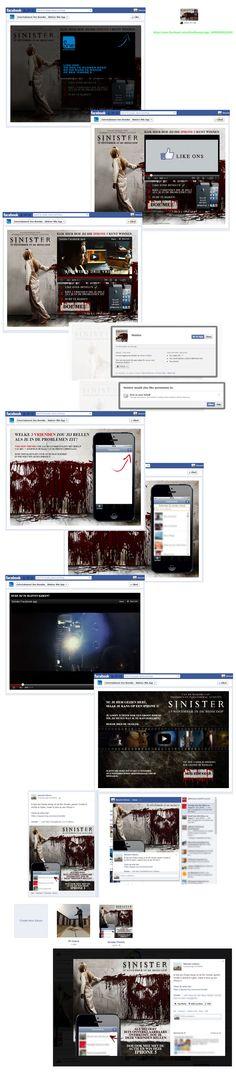 Sinister! Maak kans op een iPhone5. Een agressief opgebouwde app, waarbij je je vrienden kunt uitnodigen en taggen in een Sinister afbeelding.  De app dialog box en de post as dialog boxen worden achter elkaar afgevuurd, dan heb je die maar binnen :) De getagde afbeelding wordt daarna in een nieuw album aan je fotoalbums toegevoegd. Leuk is wel dat deze afbeelding is gecustomised met de vrienden die je hebt geselecteerd. https://www.facebook.com/eOneBenelux/app_368599093228581…