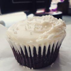 Chocolate Cherry Cupcake with Vanilla Buttercream Cream Cheese Frosting