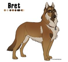 Bret - Design for sale (CLOSED) by faithandfreedom on DeviantArt Anime Wolf, Anime Furry, Cute Animal Drawings, Animal Sketches, Dog Drawings, Animal Design, Dog Design, Anime Animals, Cute Animals