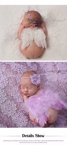 Cute !! 2017 New Soft Baby Girl Clothes Newborn Photography Props Children Skirt Sets Lace Headwear Angel Wing