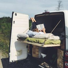 "23.2k Likes, 284 Comments - Vanlife | Nomad | Buslife (@project.vanlife) on Instagram: ""Reading on the backyard deck   by @surftripping"""