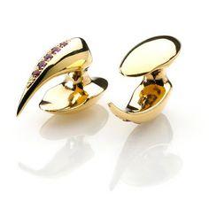 Agata Kosel - Gold Cufflinks & Rubies.