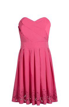 robe taffetas brodée rose bonbon SINEQUANONE Rose Bonbon, Summer Dresses, Formal Dresses, Fashion, Dress, Summer Sundresses, Formal Gowns, Moda, Sundresses