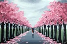 "Saatchi Art Artist Aisha Haider; Painting, ""Our Blossom Tree Walk"" #art"