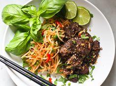 Vietnamese Beef and Green Papaya Salad - Feasting At Home