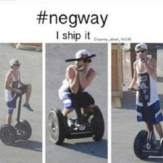 Niall's Segway is his girlfriend...Oh my god.