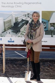 Harry Potter author, J. Rowling, makes donation to help found MS clinic. Harry Potter Author, British Garden, Celebrity Outfits, Role Models, Plaid Scarf, Clinic, Celebs, Jackets, Clothes